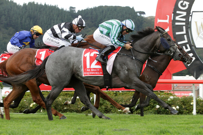 Emily Margaret winning the Gr.2 Wellington Guineas (1400m). - Trish Dunell